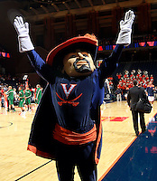 CHARLOTTESVILLE, VA- NOVEMBER 26: The Virginia Cavalier mascot during the game on November 26, 2011 at the John Paul Jones Arena in Charlottesville, Virginia. Virginia defeated Green Bay 68-42. (Photo by Andrew Shurtleff/Getty Images) *** Local Caption ***
