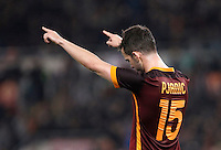 Calcio, Serie A: Roma vs Frosinone. Roma, stadio Olimpico, 30 gennaio 2016.<br /> Roma's Miralem Pjanic celebrates after scoring during the Italian Serie A football match between Roma and Frosinone at Rome's Olympic stadium, 30 January 2016.<br /> UPDATE IMAGES PRESS/Isabella Bonotto