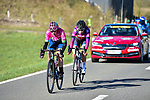 The breakaway during Liege-Bastogne-Liege Femmes 2021, running 141km from Bastogne to Liege, Belgium. 25th April 2021.  <br /> Picture: A.S.O./Gautier Demouveaux | Cyclefile<br /> <br /> All photos usage must carry mandatory copyright credit (© Cyclefile | A.S.O./Gautier Demouveaux)