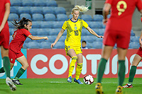 20200310 Faro , Portugal : Swedish Sofia Jakobsson (10) pictured during the female football game between the national teams of Portugal and Sweden on the third matchday of the Algarve Cup 2020 , a prestigious friendly womensoccer tournament in Portugal , on Tuesday 10 th March 2020 in Faro , Portugal . PHOTO SPORTPIX.BE | STIJN AUDOOREN