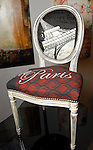 """The chair titled """" Tout et Paris"""" by Ray Phillips at the Les Provinciales Design for a Cause event at Roche Bobois Thursday Dec. 10,2009.(Dave Rossman/For the Chronicle)"""