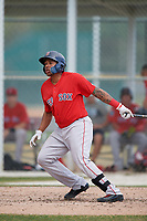 Boston Red Sox Eddy Reynoso (44) during a Minor League Spring Training game against the Baltimore Orioles on March 20, 2018 at Buck O'Neil Complex in Sarasota, Florida.  (Mike Janes/Four Seam Images)