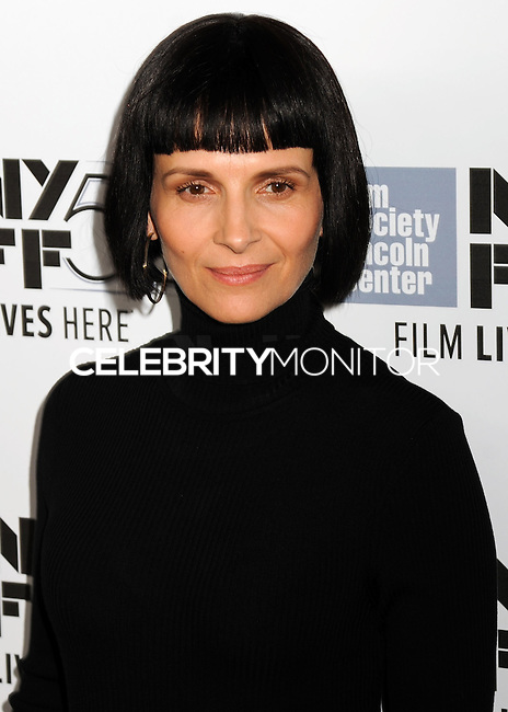 NEW YORK CITY, NY, USA - OCTOBER 08: Juliette Binoche arrives at the 52nd New York Film Festival - 'Clouds Of Sils Maria', 'Merchants Of Doubt' And 'Silvered Water' Premieres held at Alice Tully Hall on October 8, 2014 in New York City, New York, United States. (Photo by Celebrity Monitor)