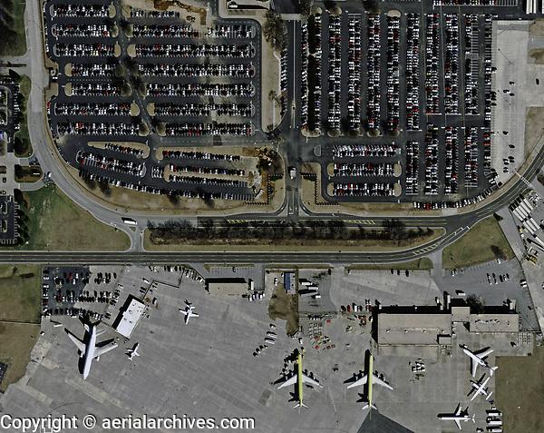 aerial photograph of a full parking lot at the Hartsfield Jackson Atlanta International airport, (ATL) Georgia