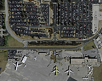 aerial photograph of a full parking lot at the Hartsfield Jackson Atlanta International airport, (ATL) Georgia