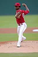 Pitcher Brayan Bello (30) of the Greenville Drive during a game against the Brooklyn Cyclones on Friday, May 14, 2021, at Fluor Field at the West End in Greenville, South Carolina. (Tom Priddy/Four Seam Images)