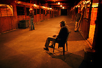 Dr West waiting for birth--April and May are foaling season and most foals are born between 10 pm and 4 am under the cover of darkness.  A night watchman calls Dr. Smiser West who at age 93 still jumps out of bed and comes down to wait for the blessed event.
