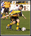 06/04/2002                 Copyright Pic : James Stewart .Ref :     .File Name : stewart-alloa v qos   12.ALLOA'S GARETH HUTCHISON HOLDS OFF ANDY AITKEN....James Stewart Photo Agency, 19 Carronlea Drive, Falkirk. FK2 8DN      Vat Reg No. 607 6932 25.Office     : +44 (0)1324 570906     .Mobile  : + 44 (0)7721 416997.Fax         :  +44 (0)1324 630007.E-mail  :  jim@jspa.co.uk.If you require further information then contact Jim Stewart on any of the numbers above.........