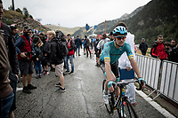 Jakob Fuglsang (DEN/Astana) after finishing the stage where the weather turned foul in the finale<br /> <br /> Stage 9: Andorra la Vella to Cortals d'Encamp (94km) - ANDORRA<br /> La Vuelta 2019<br /> <br /> ©kramon