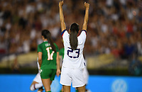 PASADENA, CALIFORNIA - August 03: Christen Press #23 celebrates a goal during their international friendly and the USWNT Victory Tour match between Ireland and the United States at the Rose Bowl on August 03, 2019 in Pasadena, CA.