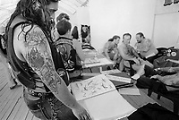 "- gathering of ""bikers"" motorcyclists, tattooing studio<br /> <br /> - raduno di motociclisti ""bikers"", tatuatore"