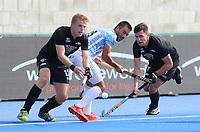 Sam Lane and Jacob Smith during the Pro League Hockey match between the Blacksticks men and the Argentina, Nga Punawai, Christchurch, New Zealand, Sunday 1 March 2020. Photo: Simon Watts/www.bwmedia.co.nz