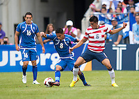 Joe Corona, Osael Romero Castillo.  The United States defeated El Salvador, 5-1, during the quarterfinals of the CONCACAF Gold Cup at M&T Bank Stadium in Baltimore, MD.