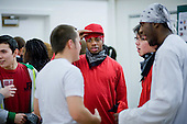 Discussion group during a Generation Dance intergenerational event at the Greenside Community Centre, Lisson Green Estate