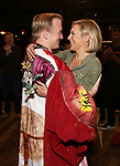 """Erica Mansfield and Ryan Worsing during the Broadway Opening Night Legacy Robe Ceremony honoring Erica Mansfield for  """"Kiss Me, Kate""""  at Studio 54 on March 14, 2019 in New York City."""