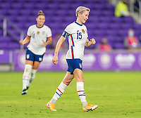 ORLANDO, FL - JANUARY 22: Megan Rapinoe #15 of the USWNT celebrates during a game between Colombia and USWNT at Exploria stadium on January 22, 2021 in Orlando, Florida.