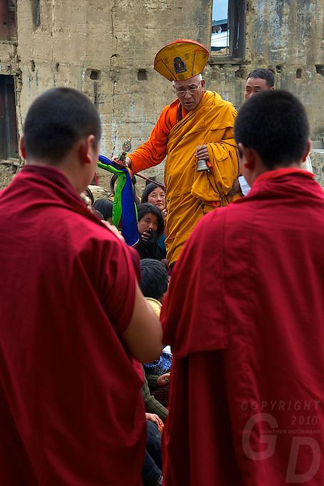 Small Village Buddhist Ceremony near Trongsa, Bhutan