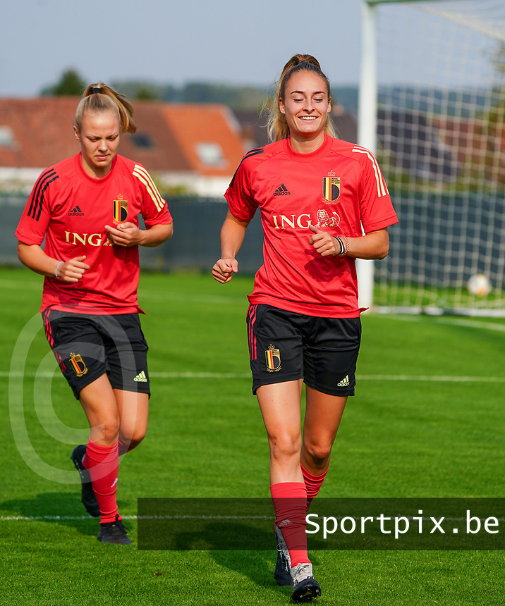 20200911 - TUBIZE , Belgium : Tessa Wullaert pictured during a training session of the Belgian Women's National Team, Red Flames , on the 11th of September 2020 in Tubize. PHOTO SEVIL OKTEM| SPORTPIX.BE