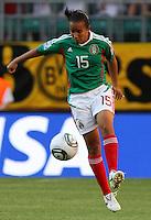 Wolfsburg , 270611 , FIFA / Frauen Weltmeisterschaft 2011 / Womens Worldcup 2011 , Gruppe B  ,  ..England - Mexico ..Luz del Rosario Saucedo (Mexico) ..Foto:Karina Hessland ..