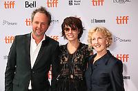 COMPOSER C. J. VANSTON, PARKER POSEY AND PRODUCER KAREN MURPHY - RED CARPET OF THE FILM 'MASCOTS' - 41ST TORONTO INTERNATIONAL FILM FESTIVAL 2016