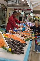 France, Gironde (33), Bassin d'Arcachon, Le Cap-Ferret, le Marché// France, Gironde, Bassin d'Arcachon, Le Cap Ferret, the market