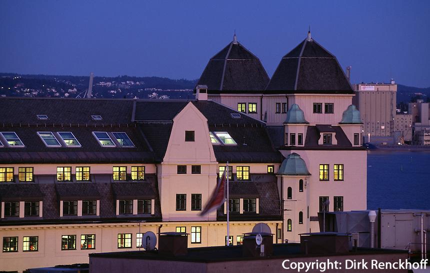 Hafengebäude am Bjrrvika Sund, Oslo, Norwegen