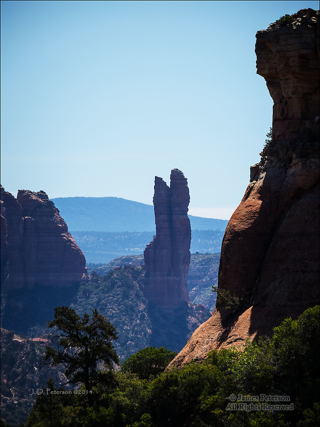 The Rabbit Ears Seen from Hiline Trail, near Sedona, Arizona