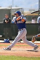 Michael Olt of the Texas Rangers plays in a minor league spring training game against the Kansas City Royals at the Rangers minor league complex, on March 22, 2011  in Surprise, Arizona. .Photo by:  Bill Mitchell/Four Seam Images.