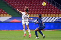 Swiss Coumba Sow (11) and French Grace Geyoro (8) during the Womens International Friendly game between France and Switzerland at Stade Saint-Symphorien in Longeville-lès-Metz, France.