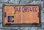 Italy, South Tyrol, Alto Adige, sign for the South Tyrolean Way of St. James