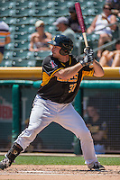 Charlie Cutler (37) of the Salt Lake Bees at bat against the Albuquerque Isotopes in Pacific Coast League action at Smith's Ballpark on June 28, 2015 in Salt Lake City, Utah.  The Isotopes defeated the Bees 8-3.(Stephen Smith/Four Seam Images)