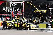 NASCAR Xfinity Series<br /> Boyd Gaming 300<br /> Las Vegas Motor Speedway, Las Vegas, NV USA<br /> Saturday 3 March 2018<br /> Brandon Jones, Joe Gibbs Racing, Toyota Camry Menards, makes a pit stop<br /> World Copyright: John K Harrelson<br /> NKP / LAT Images