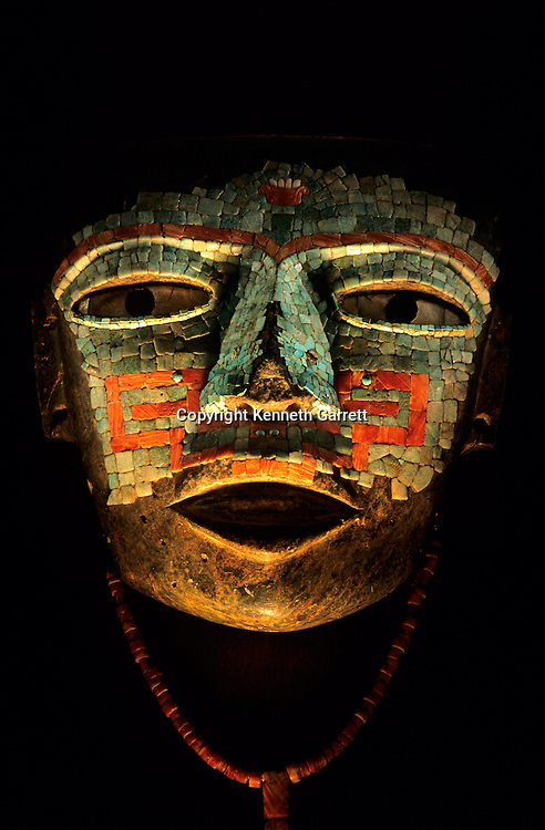 Teotihuacan, Turqoise,Mosaic, Mask, National Museum of Anthropology and History, Mexico, NMAH