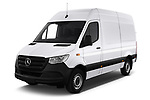 2019 Mercedes Benz Sprinter - 2 Door Cargo Van Angular Front stock photos of front three quarter view