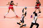 Setter Miya Sato of Japan (C) pass during the FIVB Volleyball World Grand Prix match between China vs Japan on July 21, 2017 in Hong Kong, China. Photo by Marcio Rodrigo Machado / Power Sport Images