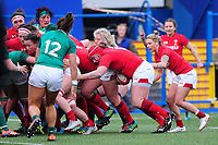 Carys Phillips of Wales scores her sides second try during the Women's Six Nations match between Wales and Ireland at Cardiff Arms Park, Cardiff, Wales, UK. Sunday 17 March 2019