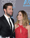 John Krasinski and Emily Blunt attends The 20th ANNUAL CRITICS' CHOICE AWARDS held at The Hollywood Palladium Theater  in Hollywood, California on January 15,2015                                                                               © 2015 Hollywood Press Agency