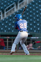 AZL Rangers first baseman Stanley Martinez (29) at bat during an Arizona League playoff game against the AZL Indians 1 at Goodyear Ballpark on August 28, 2018 in Goodyear, Arizona. The AZL Rangers defeated the AZL Indians 1 7-4. (Zachary Lucy/Four Seam Images)