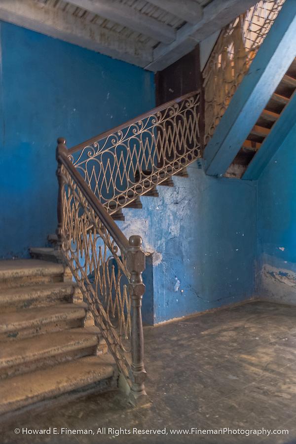 Once grand staircase at Atkinson plantation manor