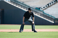 Field umpire John Bacon during an Arizona Fall League game between the Surprise Saguaros and the Salt River Rafters on October 9, 2018 at Surprise Stadium in Surprise, Arizona. Salt River defeated Surprise 10-8. (Zachary Lucy/Four Seam Images)