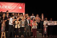 The Leader of the Liberal Party of Canada, Justin Trudeau, attend a community social in Saint-Leonard., Friday, August 28, 2015 at<br /> Leonardo da Vinci Centre <br /> 8370 Lacordaire Boulevard<br /> Saint-Léonard, Quebec<br /> <br /> <br /> <br /> <br /> Photo : AQP - Philippe Manh Nguyen