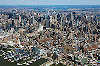 aerial photograph midtown Manhattan skyline, New York City
