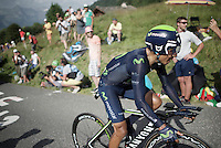 Nairo Quintana (COL/Movistar)<br /> <br /> Stage 18 (ITT) - Sallanches › Megève (17km)<br /> 103rd Tour de France 2016