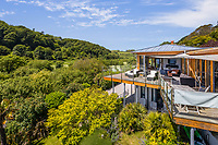 BNPS.co.uk (01202) 558833<br /> Pic: MarchandPetit/BNPS<br /> <br /> Pictured: The property.<br /> <br /> A stunning contemporary home just a stone's throw from an idyllic beach is on the market for £3.85m.<br /> <br /> The aptly-named Beach House was designed to take advantage of its breath-taking views over North Sands Beach and out to sea.<br /> <br /> The four-bedroom oak-framed house is in a fantastic plot in one of the most sought after locations in Salcombe, Devon.<br /> <br /> As well as an expansive balcony to enjoy the views, it also has boat storage - a rarity in the town.