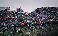 (as usual) Huge crowds up the infamous Monte Zoncolan (1735m/11%/10km)<br /> <br /> stage 14 San Vito al Tagliamento – Monte Zoncolan (186 km)<br /> 101th Giro d'Italia 2018