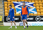St Johnstone Training...06.05.21<br />Jamie McCart and Guy Melamed pictured during training at McDiarmid Park ahead of Sundays Scottish Cup semi-final against St Mirren.<br />Picture by Graeme Hart.<br />Copyright Perthshire Picture Agency<br />Tel: 01738 623350  Mobile: 07990 594431