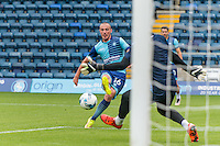Michael Harriman of Wycombe Wanderers during the Open Training Session in front of supporters during the Wycombe Wanderers 2016/17 Team & Individual Squad Photos at Adams Park, High Wycombe, England on 1 August 2016. Photo by Jeremy Nako.