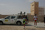 GreenEdge Cycling Team riders arrive for the start of Stage 1 of the Tour of Qatar 2012 running 142.5km from Barzan Towers to Doha Golf Club, Doha, Qatar. 5th February 2012.<br /> (Photo by Eoin Clarke/NEWSFILE).