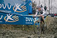 leaders' pain-face by VAN DER POEL Mathieu (NED/Corendon-Circus) <br /> <br /> GP Sven Nys (BEL) 2019<br /> DVV Trofee<br /> ©kramon