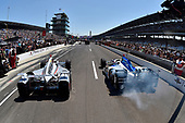 Verizon IndyCar Series<br /> Indianapolis 500 Carb Day<br /> Indianapolis Motor Speedway, Indianapolis, IN USA<br /> Friday 26 May 2017<br /> Will Power, Team Penske Chevrolet, James Hinchcliffe, Schmidt Peterson Motorsports Honda during the pit stop competition <br /> World Copyright: Scott R LePage<br /> LAT Images<br /> ref: Digital Image lepage-170526-indy-9890